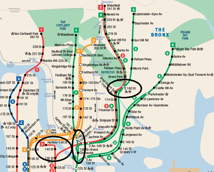 Subway Map Of The Bronx.Nytip Enhancing The Nyc Subway Part 5 South Bronx Nerdy Nel